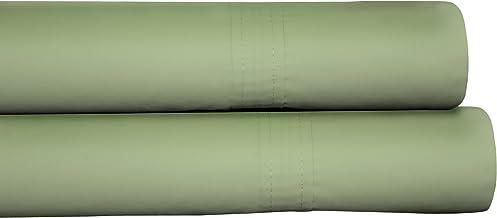Tribeca Living 500 Thread Count Egyptian Cotton Sateen Deep Pocket 6-Piece Sheet Set, King, Green