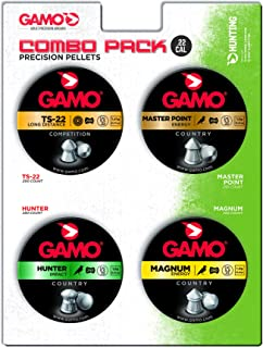 Gamo 63209295554 Combo Pack Assorted Air Rifle Pellets.22 Caliber (TS-22, Hunter, Magnum, Master Point), Pellet