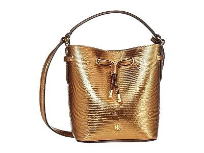 LAUREN Ralph Lauren Debby III Drawstring Mini (Gold) Handbags