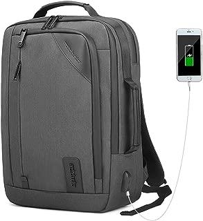 Laptop Messenger Bag Convertible Backpack Laptop Case Handbag Business Briefcase Multi-Functional Fits 15.6 Inch Laptop for Men/Women