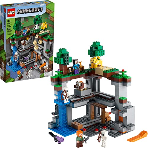 high quality LEGO Minecraft The First Adventure 21169 discount Hands-On Minecraft Playset; Fun Toy Featuring Steve, Alex, a Skeleton, Dyed Cat, Moobloom and Horned Sheep, New 2021 outlet online sale (542 Pieces) outlet online sale