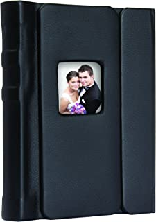 5x7 Black Overlapping Cover Self-Stick Photo Albums - Case of 6
