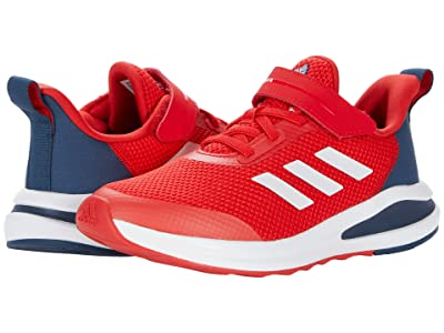 adidas Kids Fortarun Elastic (Little Kid) (Vivid Red/White/Crew Navy) Kid