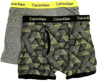 Calvin Klein Little/Big Boys' Assorted Boxer Briefs (Pack of 2)