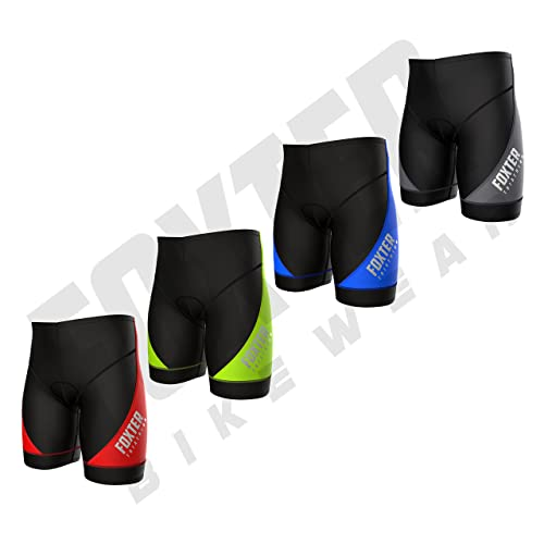Foxter Men's Performance Triathlon Shorts Cycling Tri Shorts Swim Bike Run