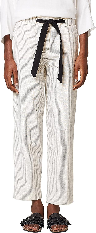 ESPRIT Women's Off White Crop Pants