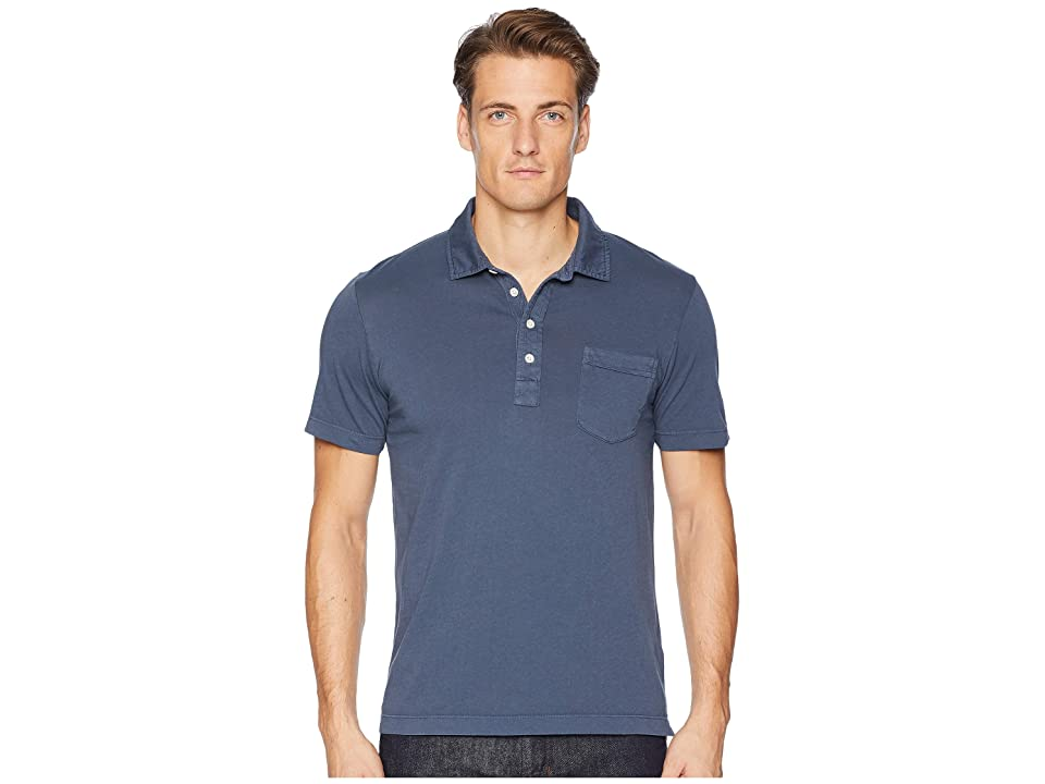 Image of Billy Reid Pensacola Polo (Navy) Men's Clothing