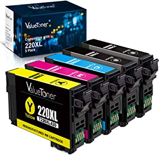 Valuetoner Remanufactured Ink Cartridge Replacement for Epson 220 220XL T220XL for Workforce WF-2760,WF-2750,WF-2630, WF-2...