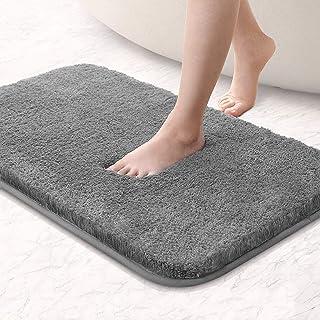 Alfombra de baño de lujo de microfibra antideslizante con diseño súper suave, absorbente, secado rápido, para bañera y duc...