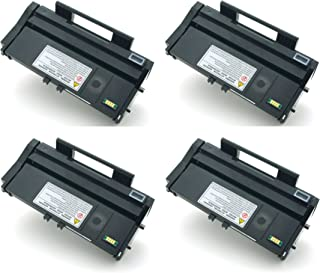 GLB Premium Quality Compatible Replacement for Ricoh 407165 / SP 100LA Black Toner Cartridge for Ricoh Lanier SP100e Series and Aficio SP 100e, 100SFe, 100Sue, 112, 112SU Printers(4-Pack)