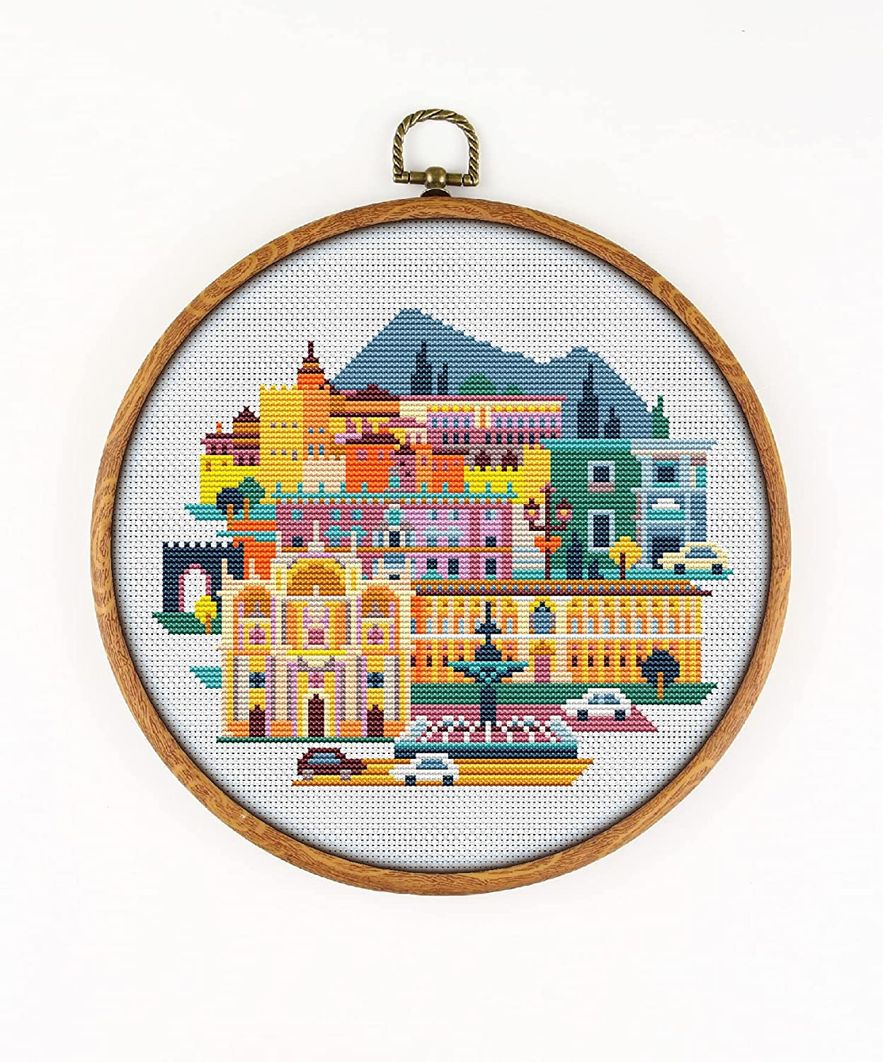 Granada K1187 Max 77% OFF Counted Cross Stitch Sale Special Price KIT#3. Fabr Threads Needles