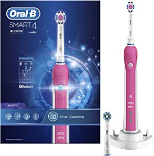 Oral-B Smart Series 4000 Electric Rechargeable Toothbrush Powered by Braun - 3D White by Oral-B