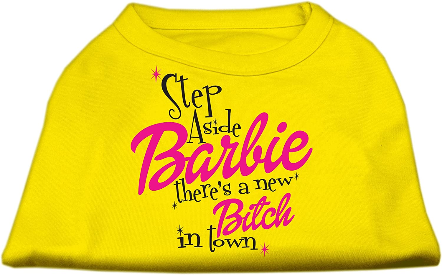 Mirage Pet Products New Bitch in Town Screen Print Dog Shirt, Large, Yellow