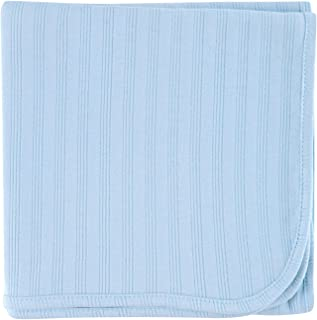 Touched by Nature Organic Receiving Blanket, Blue