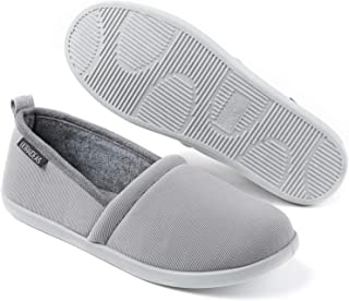 ULTRAIDEAS Women's Cozy Slippers Lightweight Closed Back House Slippers with Indoor Anti-Skid Rubber Sole