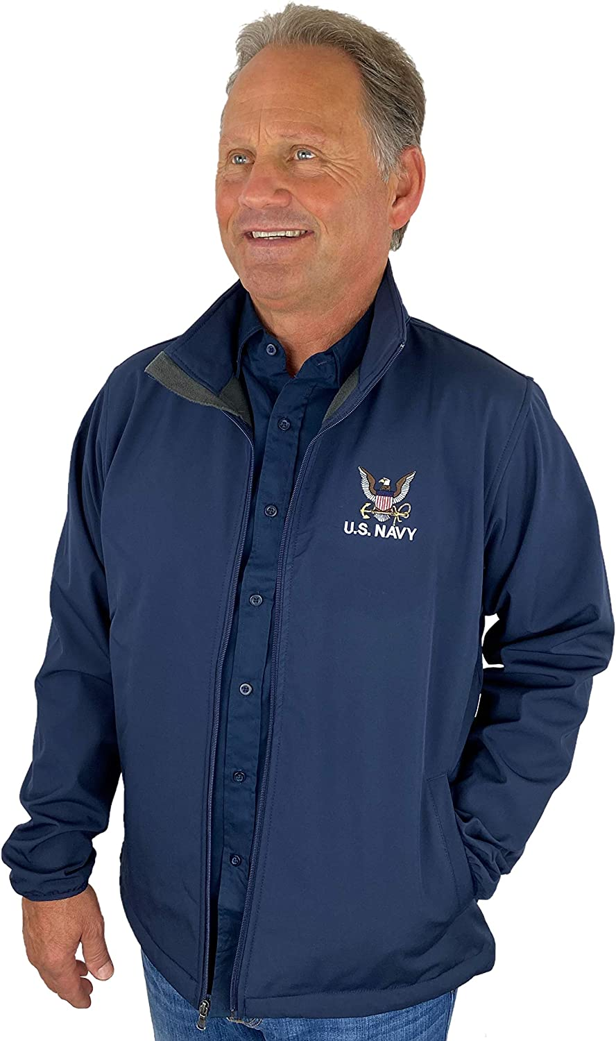 US Navy Full Zip Jacket Made In USA