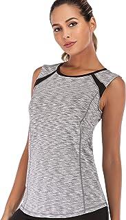JUANGLA Women Sleeveless Yoga Top Moisture Wicking Athletic Shirts Quick Dry Fitness Workout Activewear Tennis Tank Top
