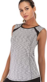 Women Sleeveless Yoga Top Moisture Wicking Athletic Shirts Quick Dry Fitness Workout Activewear Tennis Tank Top