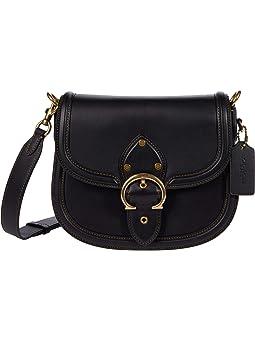 코치 새들백 COACH Glovetanned Leather Beat Saddle Bag,B4/Black