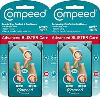 Compeed Advanced Blister Care Cushions 10 count mixed sized pads (2 pack)