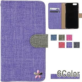HUAWEI P20 pro (Docomo HW-01K / SIMフリー 兼用) ケース ファーウェイ p20 pro カバー カバー 収納 カードいれ 手帳型カバー 手帳型ケース スマホケース 全機種対応 リネン風 ピンク花 可愛い 和風 大人 国内生産 Purple [3cvds32322505]