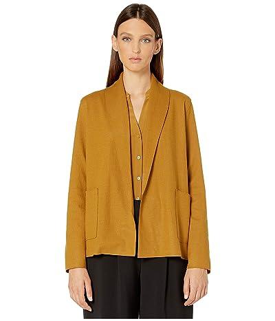 Eileen Fisher Boiled Wool Jersey Short Kimono Jacket (Arnica) Women
