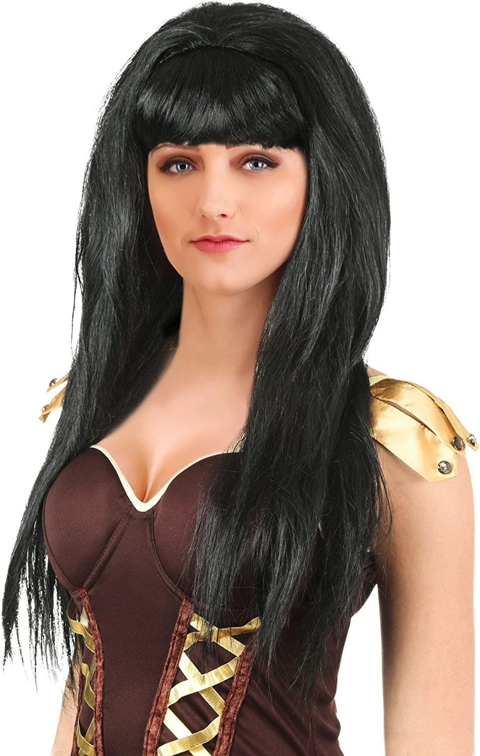 Fun Costumes Womens Xena Adult Max 66% OFF Synthetic online shopping Wig Black