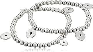 Women's Silver Point Beaded Bracelet Set, One Size