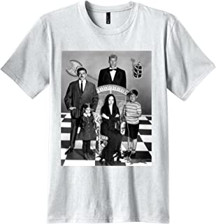 b7a03baed7ee Publiciteez Addams Family Group Photo T-shirt (L, WHITE)
