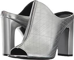 Dark Silver Metallic Leather