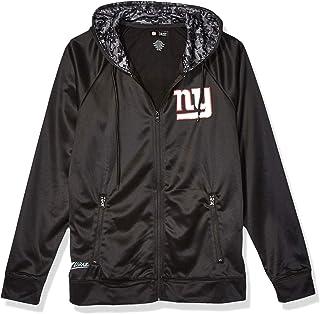 Zubaz Officially Licensed NFL Men's Full Zip Team Logo Hoodie, Black