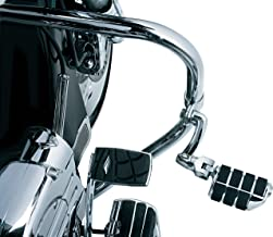 Kuryakyn 4575 Motorcycle Foot Controls: Longhorn Offset Dually Highway Pegs with Magnum Quick Clamps for 1-1/4