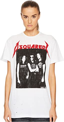 DSQUARED2 - Destroyed Dyed Rocker Jersey T-Shirt