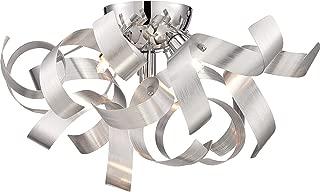 Quoizel RBN1616MN Ribbons Modern Flush Mount Ceiling Lighting 4-Light, Xenon 160 Watts, Millenia (8