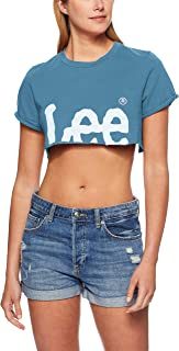 Lee Women's Crop n Roll Tee