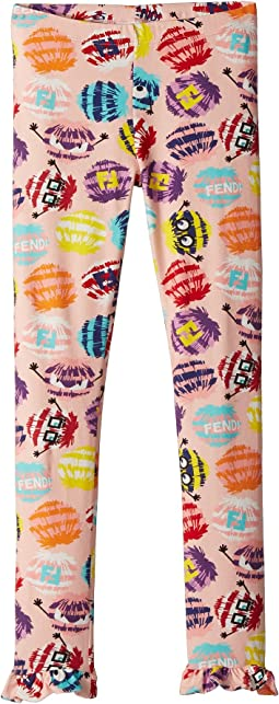 Fur Monster Print Leggings (Little Kids)