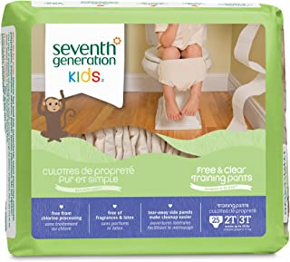 Seventh Generation Training Pants, 2T-3T, 25 Count