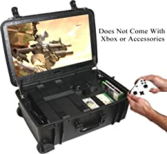 """Case Club Waterproof Xbox One X/S Portable Gaming Station with Built-in 24"""" 1080p Monitor, Storage for Controllers, Games, and Included Speakers (Xbox & Accessories Not Included)"""