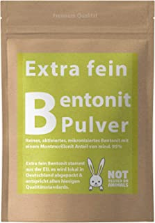 Vital Vegan Bentonit Pulver Extrafein Mineralerde Tonerde Pur - 500-2500g Premium Qualität mit 95% Montmorillonit - Pure Cleanse