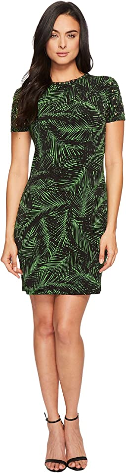 MICHAEL Michael Kors Abstract Palm Dome Stud Dress