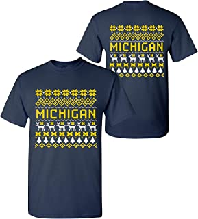 NCAA Holiday Ugly Sweater, Team Color T Shirt, College, University