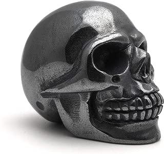 Morchic Natural Hematite Stone Raw Carved Skull Sculpture - Healing Root Chakra Balancing (2 Inches)