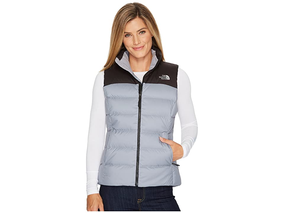 The North Face Nuptse Vest (Mid Grey/TNF Black) Women