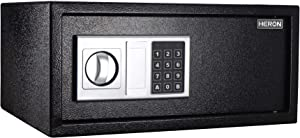 Caymus Security Safe Lock Box,Electronic Digital Keypad Safe with LED for Home Office Hotel Business Jewelry Gun Cash Storage Includes Mounting Screws, Keys & (4) x 'AA' Batteries,1 Cubic Feet