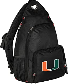 Broad Bay University of Miami Backpack Single Strap Miami Canes Sling Backpack
