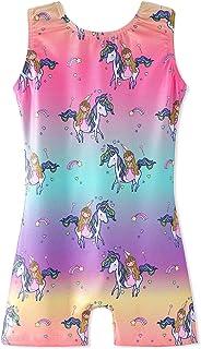 b23d85a140ab Leotards for Girls Gymnastics Unicorn Sparkly Pink Biketards Stars Rainbow  Clouds