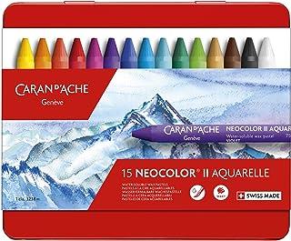 Caran d'Ache Neocolor II Boîte de 15 crayons de couleur Multicolore