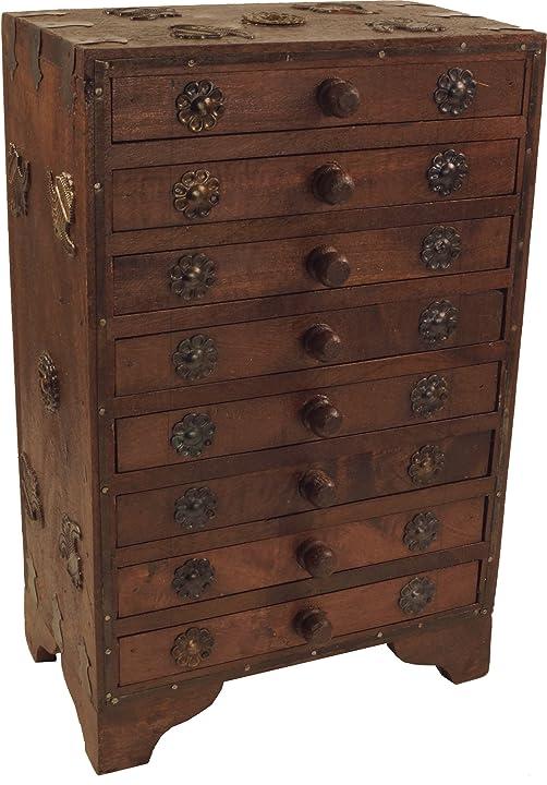 Armadietto dei gioielli/medicinali - modello 10, marrone, 35x22x13 cm guru-shop B00IYTTLHM