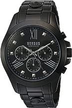 Versus by Versace Men's SBH040015 Chrono Lion Analog Display Quartz Black Watch