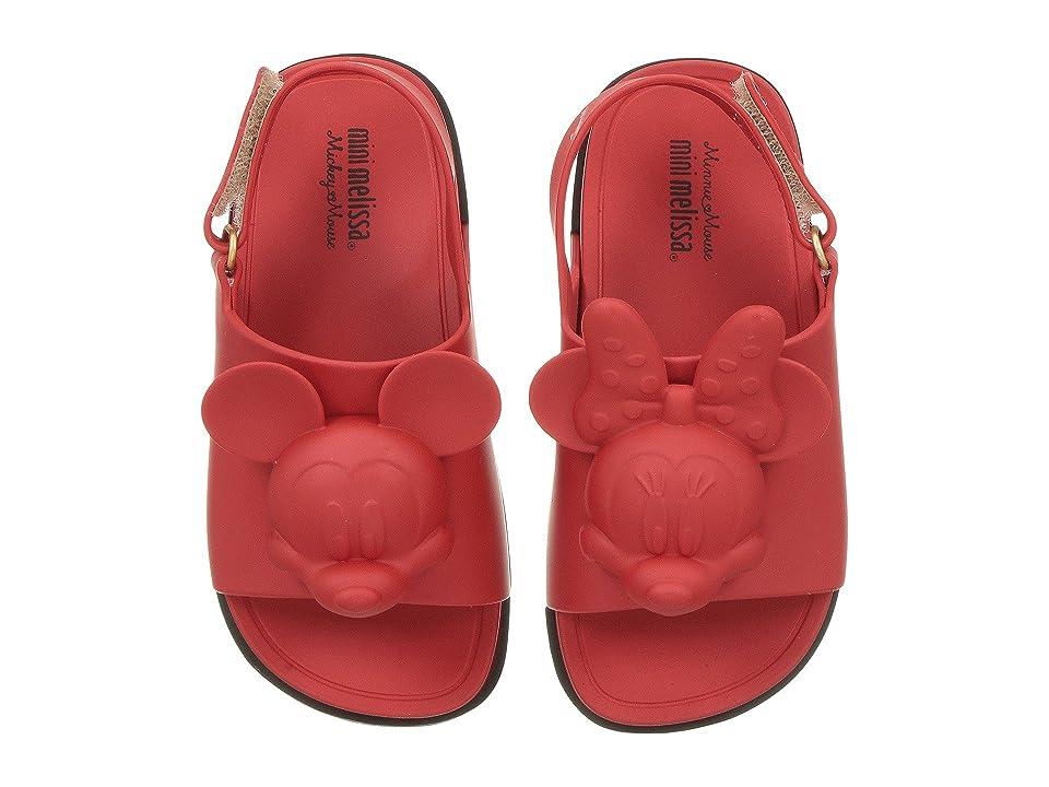 Mini Melissa Mini Beach Slide Sandal + Disney (Toddler/Little Kid) (Bordeaux) Girls Shoes